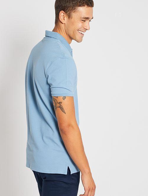 Polo regular tinta unita                                                                                                                             blu grigio