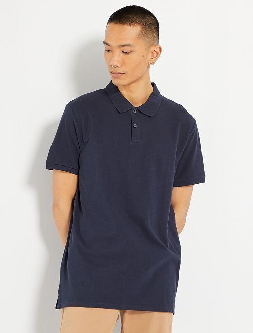 Polo regular tinta unita Uomo - blu navy - Kiabi - 6 5514ec872580