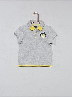 Bambino 0-36 mesi - Polo stampata collo bicolore - Kiabi