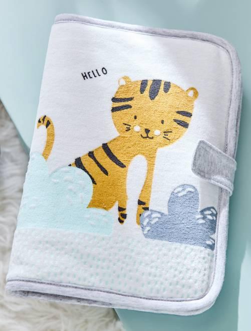 Porta libretto sanitario stampa 'tigre'                             BLU Neonata