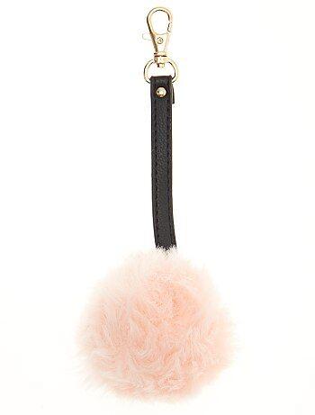 Portachiavi pompon pelliccia ecologica - Kiabi