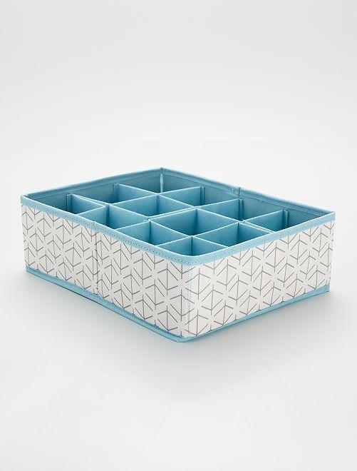 Portaoggetti in tessuto                                         bianco/blu