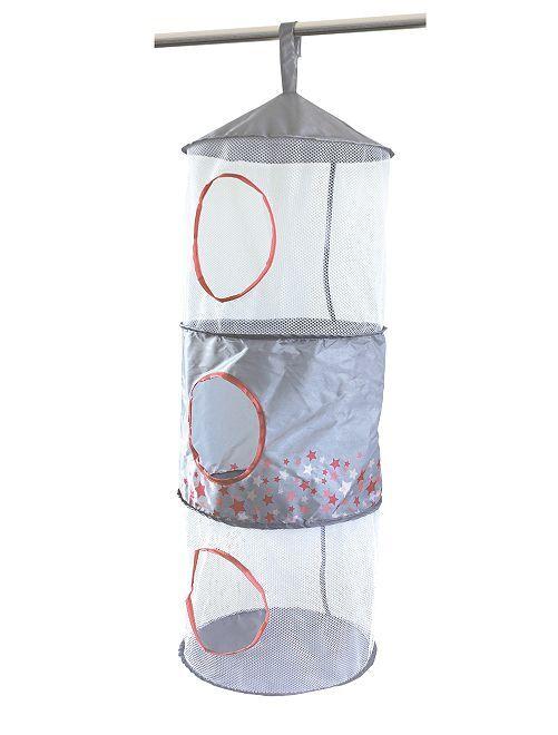 Portaoggetti sospeso pop up                                         grigio/rosa