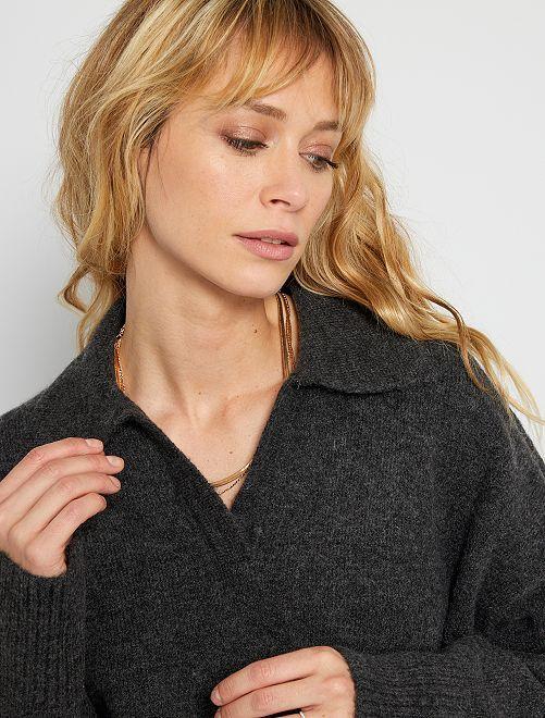 Pullover a maglia fine                                                                 GRIGIO