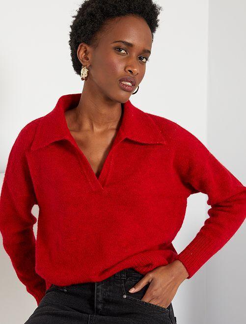 Pullover a maglia fine                                                                 rosso