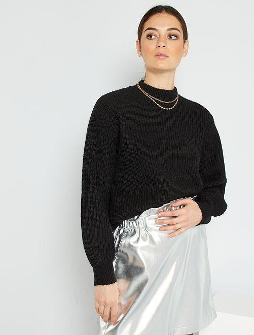 Pullover a maglia grossa                                         nero