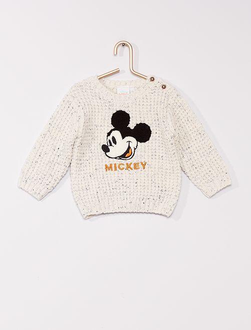 Pullover a maglia grossa 'Topolino' di 'Disney'                                         BIANCO