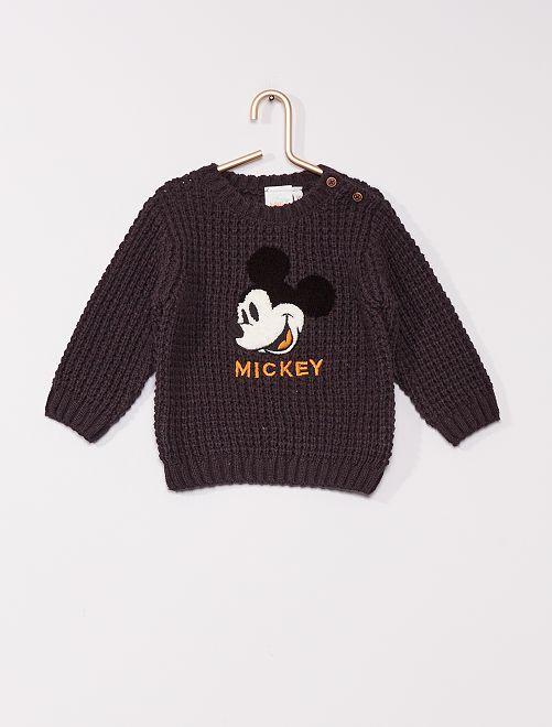 Pullover a maglia grossa 'Topolino' di 'Disney'                                         NERO