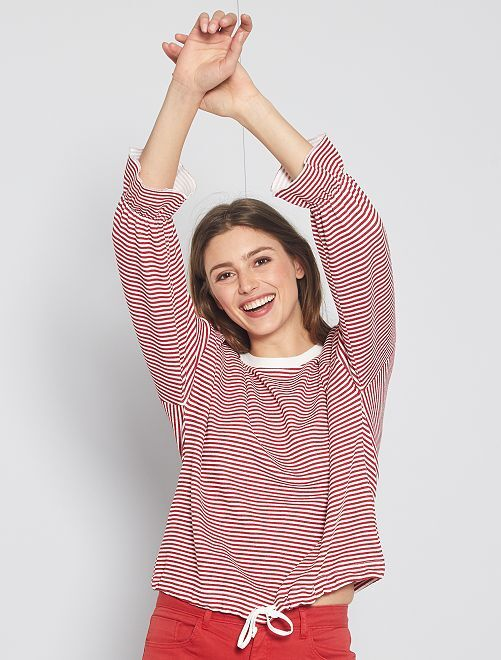 Pullover a righe 'JDY'                             bianco/rosso