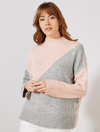 Pullover ampio color block - Kiabi