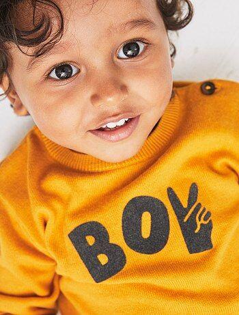 Bambino 0-36 mesi - Pullover applicazione velluto - Kiabi