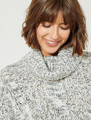 Pullover collo alto maglia - Kiabi