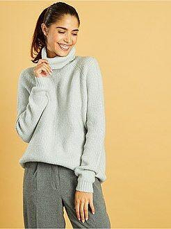 Maglioni collo alto - Pullover collo alto maglia bouclé