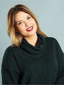 Maglioni - Pullover collo alto maglia grossa