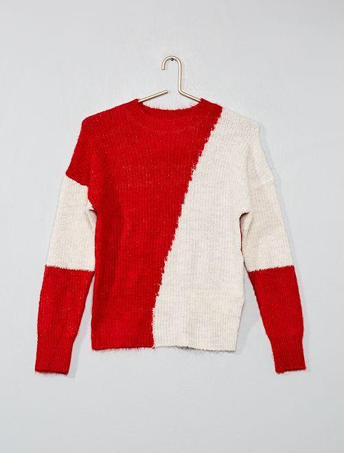 Pullover color block                                         ROSSO Ragazza