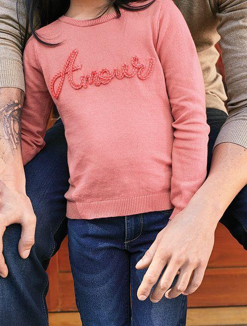 Pullover con applicazione                                                                                         ROSA Infanzia bambina