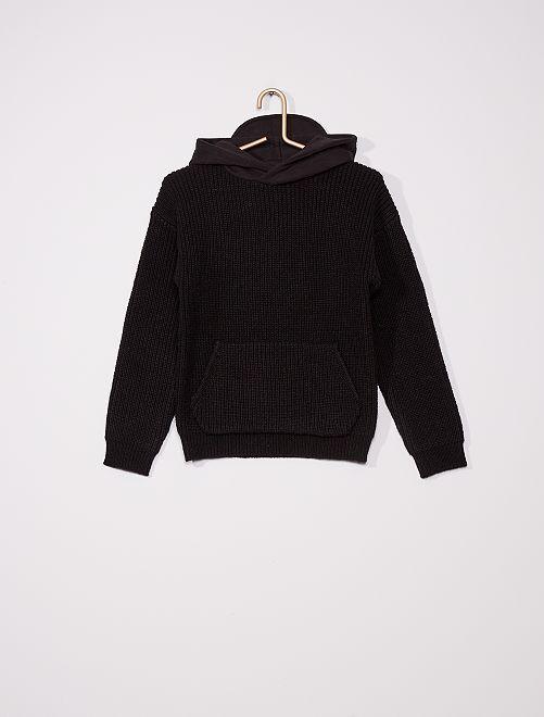 Pullover con cappuccio                                                     nero