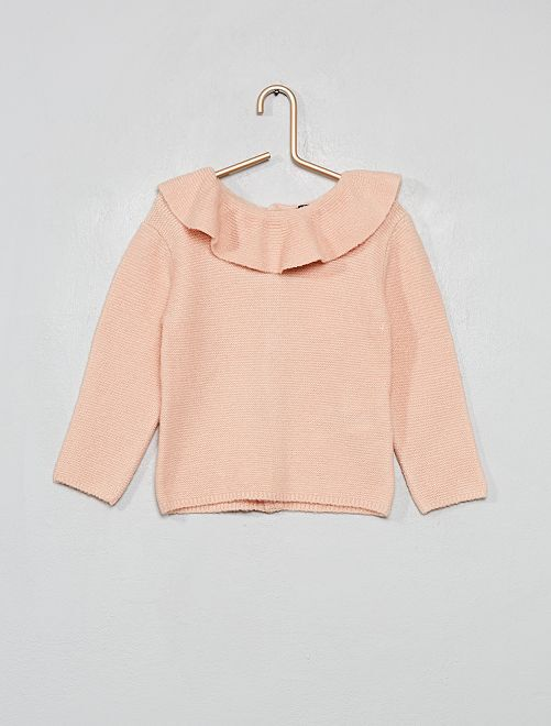 Pullover con colletto                             ROSA