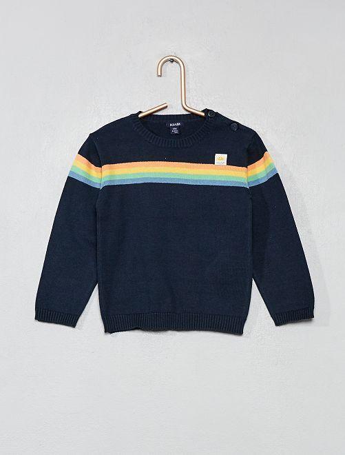 Pullover con strisce                             BLU Neonato
