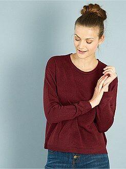 Maglioni collo arrotondato - Pullover corto maglina
