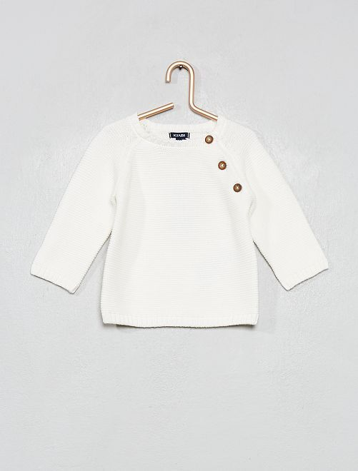 Pullover cotone                                                                             bianco neve