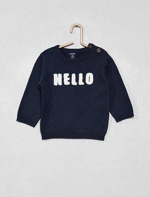 Pullover cotone bio 'eco-design'                                 BLU