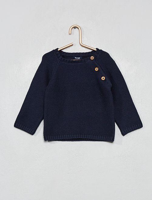Pullover cotone                                                                             blu