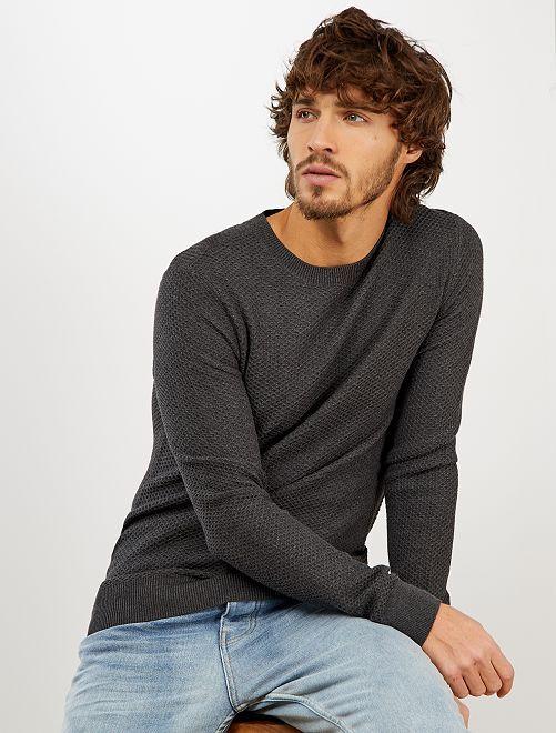 Pullover cotone 'eco-design'                                                     GRIGIO