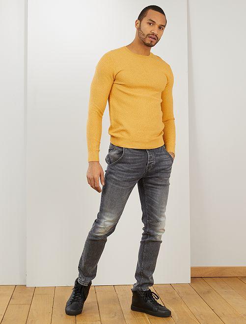 Pullover cotone 'eco-design'                                                     MARRONE