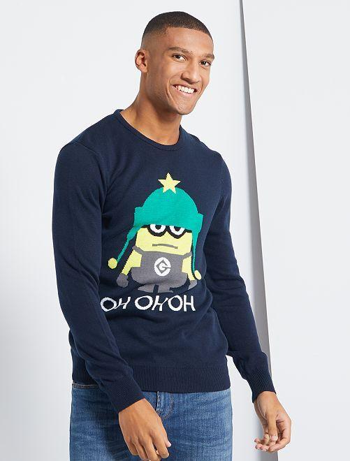 Pullover di Natale 'Minions'                             BLU
