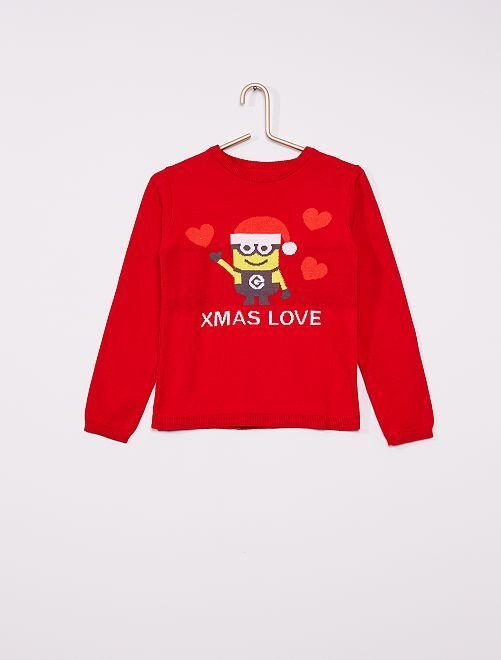 Pullover di Natale 'Minions'                             ROSSO
