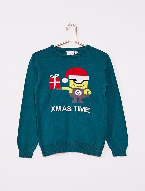 Pullover di Natale 'Minions'                             VERDE