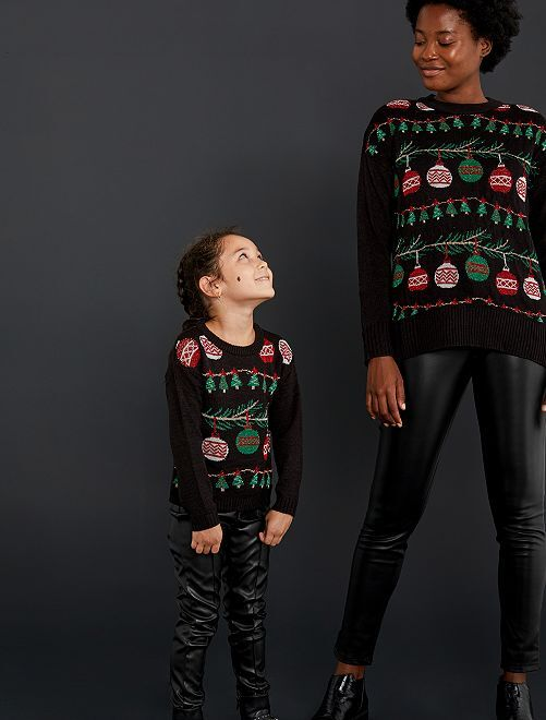 Pullover di Natale                                                     nero