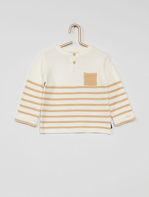 Pullover eco-sostenibile                                                     BIANCO/beige