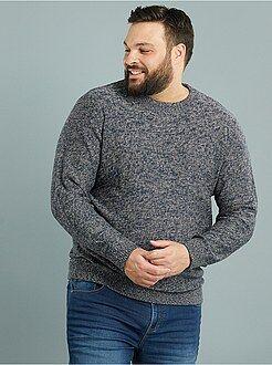 Pullover girocollo maglia mouliné