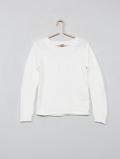 Pullover in maglia                                                                             bianco neve