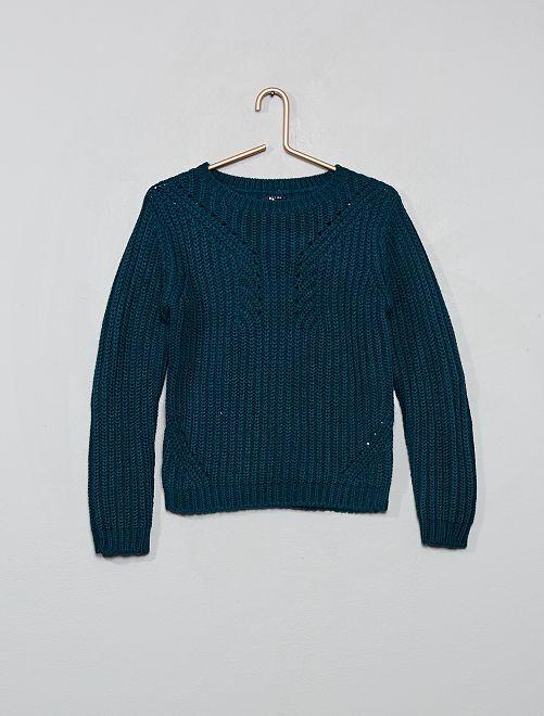 Pullover in maglia                                 BLU