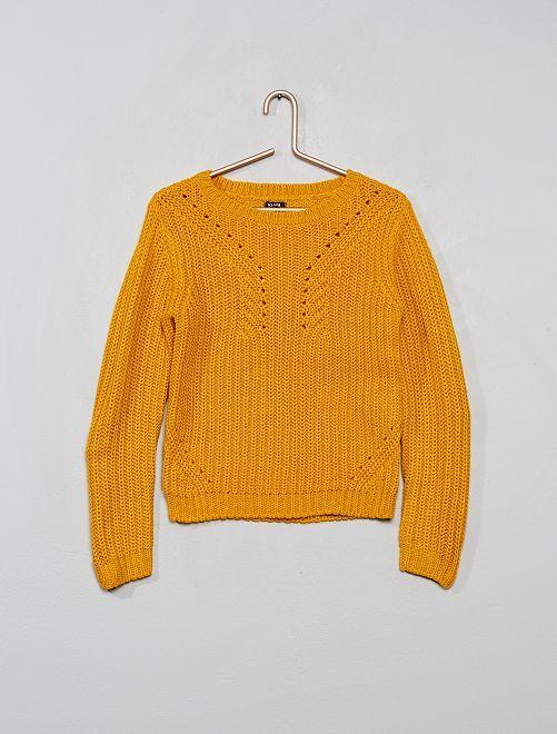 Pullover in maglia                                                                             GIALLO