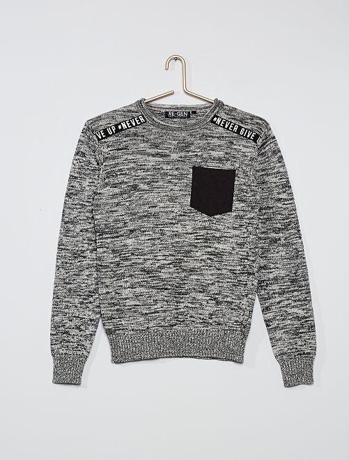 Pullover in maglia                             grigio
