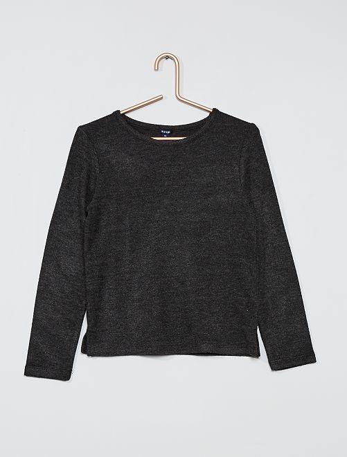 Pullover in maglia morbida                                                                 GRIGIO