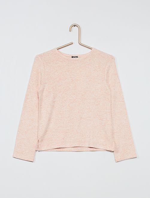 Pullover in maglia morbida                                                                 rosa