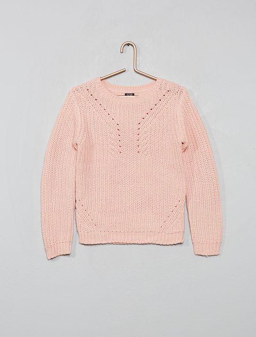 Pullover in maglia                                                                             rosa