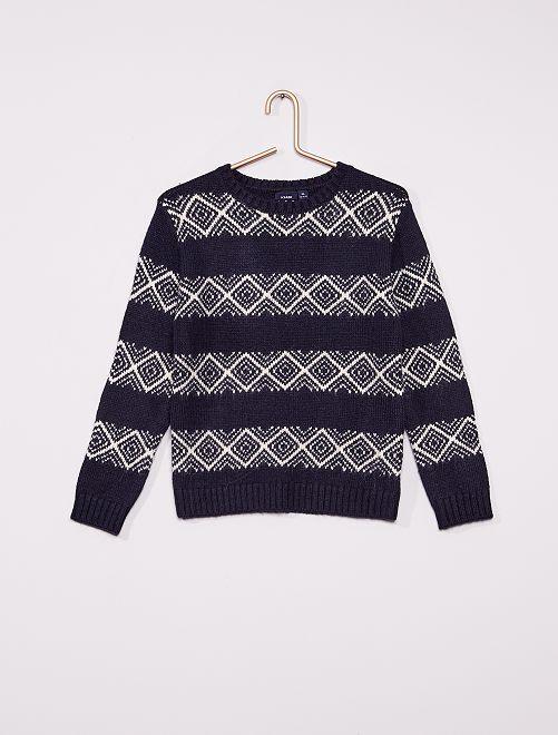 Pullover jacquard                                         BLU