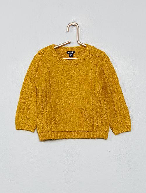 Pullover lavorato a maglia                             GIALLO