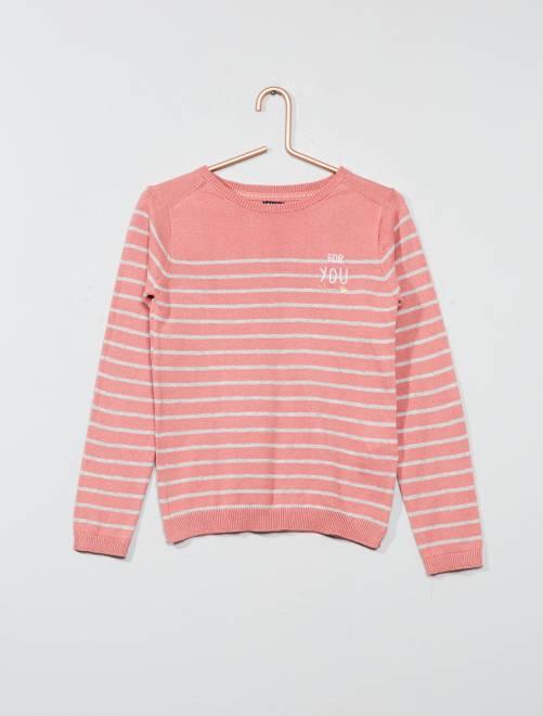 Pullover leggero                                         a righe rosa Infanzia bambina