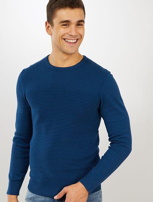 Pullover leggero 'eco-design'                                                                 blu