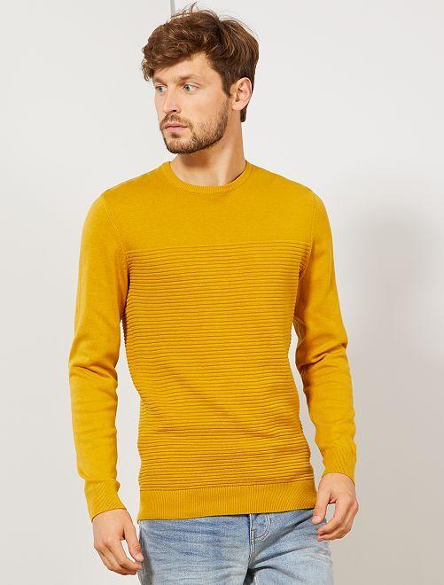 Pullover leggero 'eco-design'                                                                 GIALLO