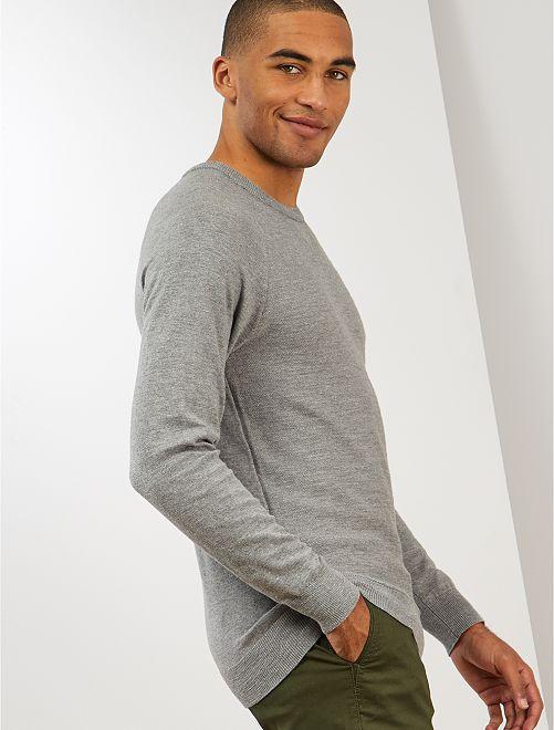 Pullover leggero 'eco-design'                                                     GRIGIO
