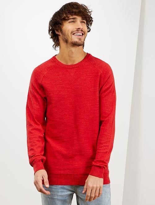 Pullover leggero 'eco-design'                                                     ROSSO