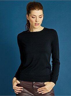 Maglioni collo arrotondato taglia 46/48 - Pullover leggero finitura squame